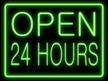 godziny 24 otwarte obrazy royalty free
