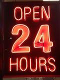 godziny 24 otwarte Fotografia Stock