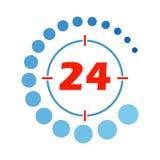 24 godziny otwierają round Obraz Royalty Free