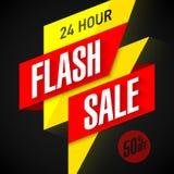 24 godziny sprzedaży Błyskowego sztandaru Obraz Stock