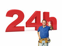 24 godziny złotej rączki usługa Zdjęcie Stock