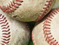 Goed gebruikt baseballs Stock Afbeeldingen