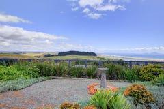 Goed gehouden Voorwerf van Aurora Lodge Waipu, NZ stock foto's
