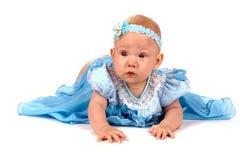 Goed-gekleed babymeisje stock fotografie