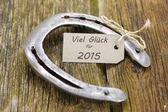 Goed geluk voor nieuw jaar 2015 Stock Foto