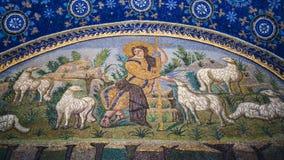 Goed Herdersmozaïek van Galla Placidia-mausoleum Royalty-vrije Stock Afbeeldingen