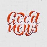 Goed Nieuws stock illustratie