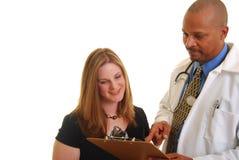 Goed nieuws van uw arts Stock Foto's
