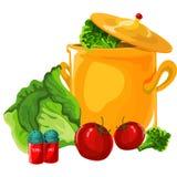 Goed Ontbijt, van groenten Vector ontwerp Royalty-vrije Stock Fotografie