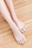 Goed-verzorgde vrouwelijke voeten Royalty-vrije Stock Afbeeldingen