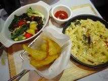 Goed voedsel in restaurant Stock Foto's