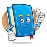 Goede Boekmascotte, Boekkarakter, Boekbeeldverhaal Stock Foto