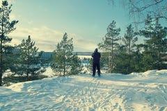 goede dag voor het ski?en Royalty-vrije Stock Afbeeldingen