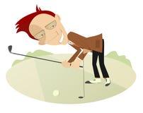 Goede dag voor het spelen van golf stock illustratie
