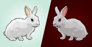 Goede en Kwade Konijnen vector illustratie