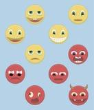 Goede en kwade personen Stock Foto's