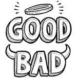 Goede en slechte ethische schets vector illustratie