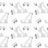 Goede handen voor honden naadloos patroon Royalty-vrije Stock Foto's