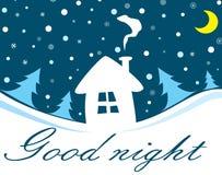 Goede nacht Stock Foto's