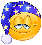 Goede nacht emoticon Stock Foto