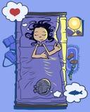 Goede slaap royalty-vrije illustratie