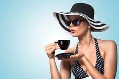 Goede teatimemanieren. Stock Foto's