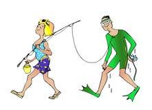 Goede vangst vector illustratie