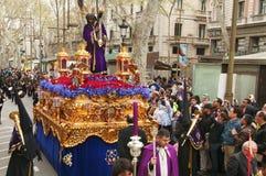 Goede Vrijdagoptocht in Barcelona, Spanje stock fotografie