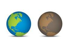 Goede wereld en Slechte wereld vector illustratie