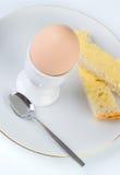 Goedemorgen! - gekookt eiontbijt Royalty-vrije Stock Afbeeldingen