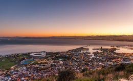 Goedemorgen Kaapstad Zuid-Afrika stock afbeeldingen