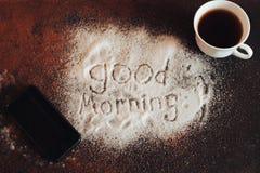 Goedemorgenchocolade Royalty-vrije Stock Foto's