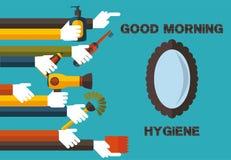 Goedemorgenhygiëne Stock Afbeeldingen