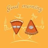 Goedemorgenillustratie Royalty-vrije Stock Afbeeldingen