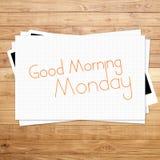 Goedemorgenmaandag Stock Afbeelding