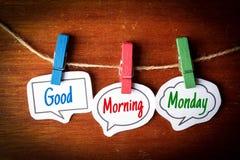 Goedemorgenmaandag Stock Fotografie