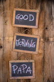 Goedemorgenpa Stock Fotografie