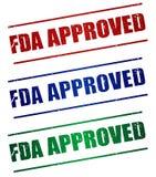 GOEDGEKEURD FDA royalty-vrije illustratie