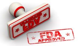 GOEDGEKEURD FDA Verbinding en afdruk Royalty-vrije Stock Afbeeldingen