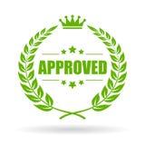 Goedgekeurd laurier vectorpictogram royalty-vrije illustratie