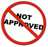 Goedgekeurd niet royalty-vrije illustratie