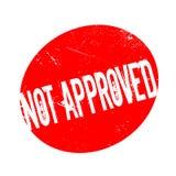 Goedgekeurde niet rubberzegel royalty-vrije illustratie