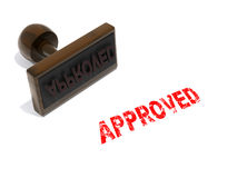Goedgekeurde rubberzegel Royalty-vrije Stock Afbeelding