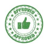Goedgekeurde rubberzegel vectorillustratie op witte achtergrond Goedgekeurd vectorzegelpictogram Royalty-vrije Stock Fotografie
