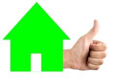 Goedkeuring van een hypotheek Royalty-vrije Stock Afbeelding