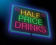 Goedkoop alcoholconcept. royalty-vrije illustratie