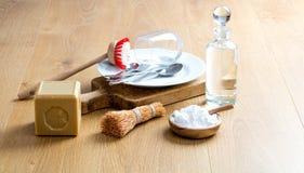 Goedkoop DIY-huishouden voor het groene binnenlandse leven om schoon te maken Stock Fotografie