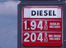 Goedkoop Gas Royalty-vrije Stock Afbeeldingen