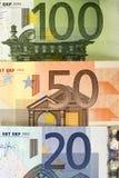 Goedkoop-geld-euro-Europese munt Stock Foto