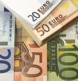 Goedkoop-geld-euro-Europese munt Stock Afbeelding